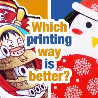 silkscreen printing and offset printing
