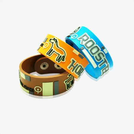 2D soft PVC bracelet