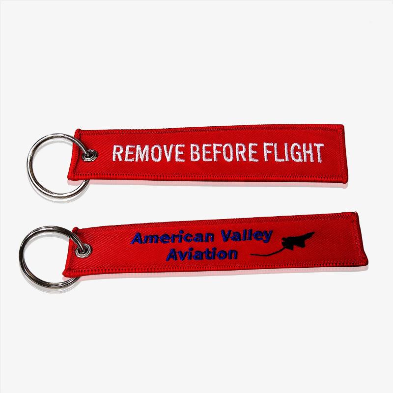 Remove Before Flight Key Ring