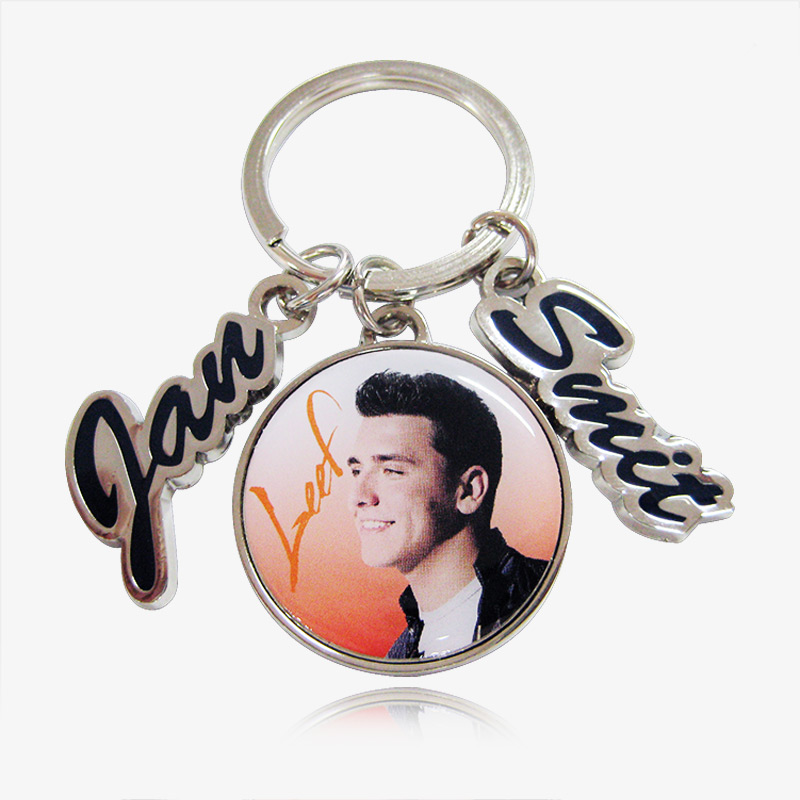 zinc alloy with print decal key ring