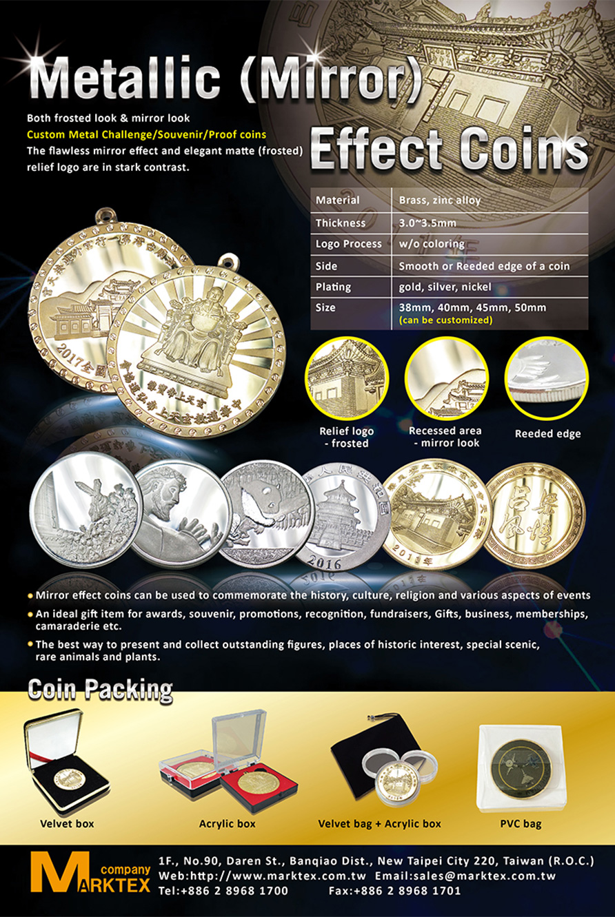 Mirror effect coin