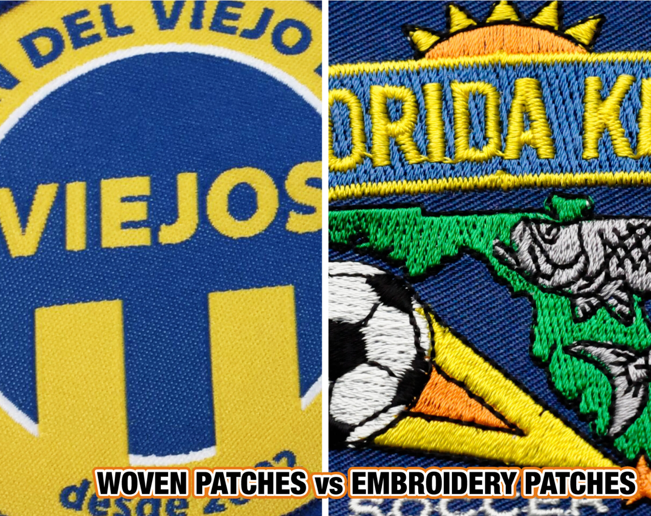 WOVEN PATCHES vs EMBROIDERY PATCHES