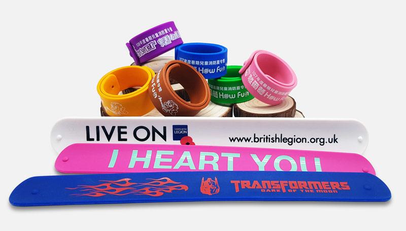 custom silicone slap bands