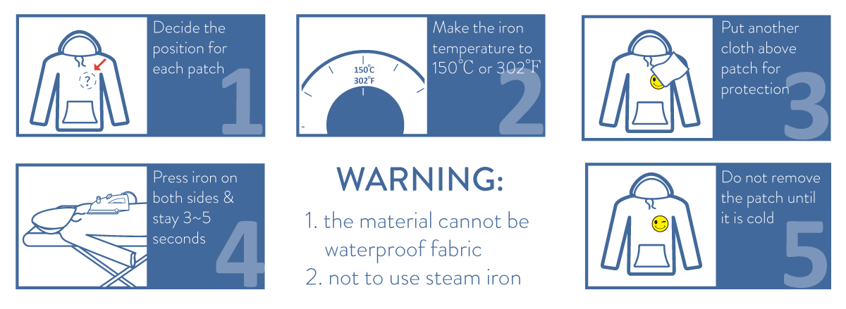 how to iron on the patch-1