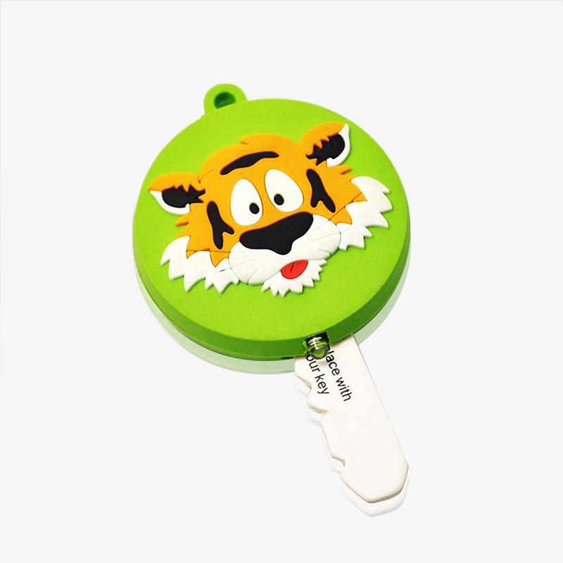 soft pvc key holder with led light