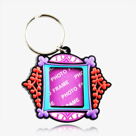 Soft PVC photo frame key ring
