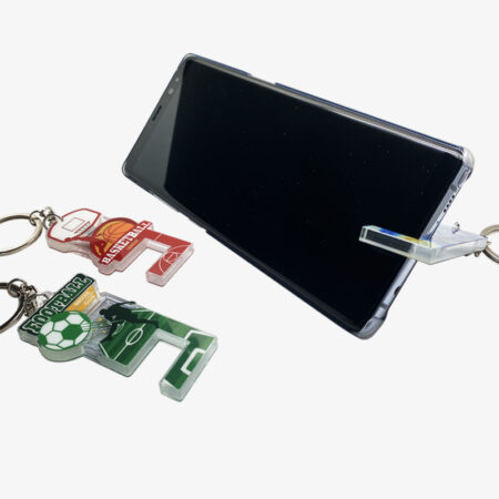 Custom acrylic phone stand keyring