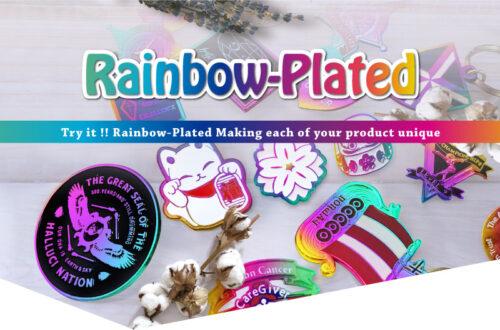 rainbow plated