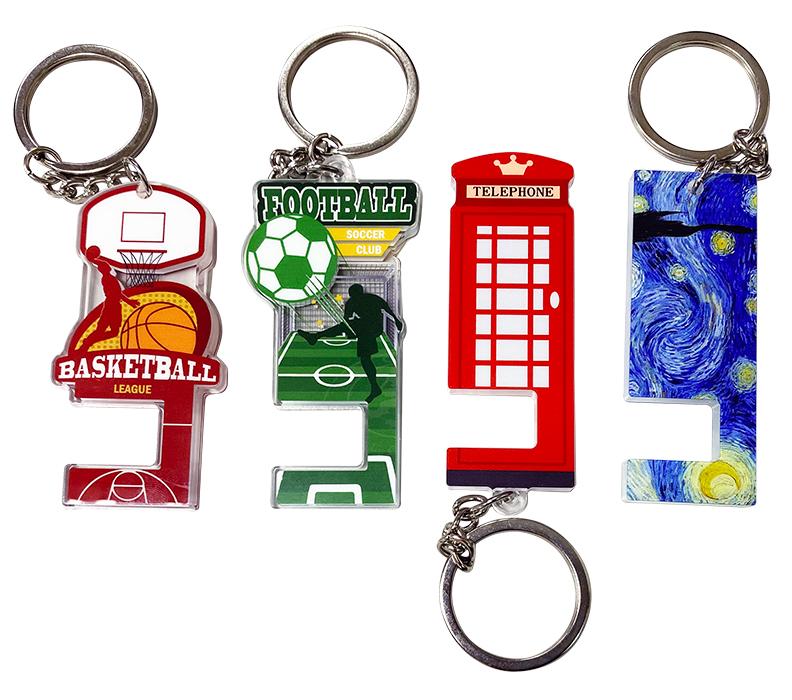 Acrylic-mobile-phone-stand-keyring-1