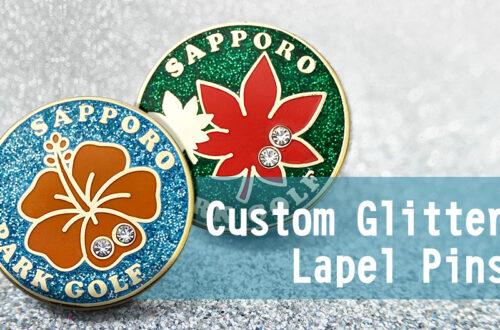 Custom Glitter Lapel Pins