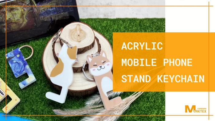 acrylic-mobile-phone-stand-keychain