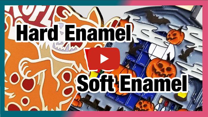 hard enamel vs soft enamel
